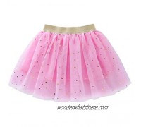 Toddlers Girls Sparkle Tulle Tutu Skirt with Sequins Stars Moon Sun