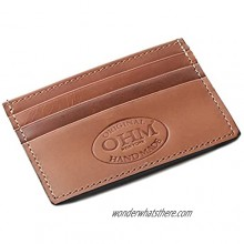 OHM New York Leather Card Case in Tan and Black